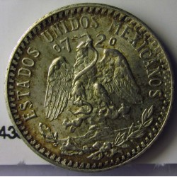 Mejico 20 Ctvo. 1935. Mejico. AG. 3,333gr. Ley:0,720. Ø19mm. SC-. KM. 438