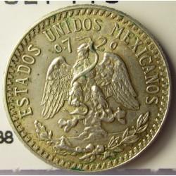 Mejico 20 Ctvo. 1942. Mejico. AG. 3,333gr. Ley:0,720. Ø19mm. SC-. KM. 438