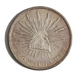Mejico 1 Pesos. 1903. Mº-(Mejico). A.M. AG. 27,073gr. Ley:0,903. Ø38mm. EBC+/SC-. KM. 409.2