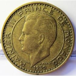 Monaco 50  Francos. 1950. (a)-Paris. AL/AE. 8,2gr. Ø27mm. MBC. KM. 132