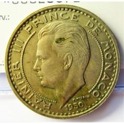 Monaco 100  Francos. 1950. (a)-Paris. CUNI. 11,6gr. Ø30mm. MBC+. KM. 133
