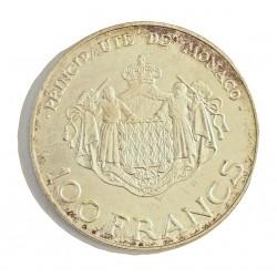 Monaco 100  Francos. 1982. (a)-Paris. AG. 15gr. Ley:0,900. (Rainiero y Alberto, heredero). Ø31mm. SC-. KM. 161