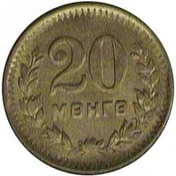 Mongolia 20  Mongo. 1945. CUNI. 3,52gr. (AH35). Ø22mm. SC. MUY ESCASO/A. KM. 20