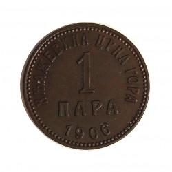 Montenegro 1 Para. 1906. AE. 1,6gr. Ø17mm. SC-/SC. (Patina). RARO/A. en esta conservacion. KM. 1