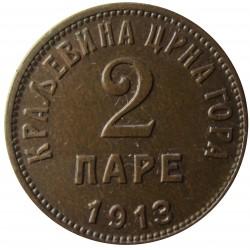 Montenegro 2 Para. 1913. AE. 3,3gr. Ø19mm. EBC/EBC+. MUY ESCASO/A. KM. 17
