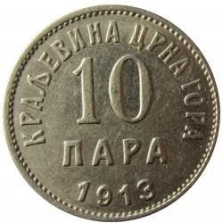 Montenegro 10 Para. 1913. NI. 3gr. Ø19mm. MBC+. (Marquitas). KM. 18