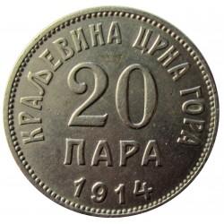 Montenegro 20 Para. 1914. NI. 4gr. Ø20,5mm. MBC+/EBC. KM. 18