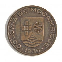 Mozambique 20  Ctvo.  1936. AE. 5gr. Ø25mm. EBC+. (Gpcito.cto.). MUY ESCASO/A. asi. KM. 64