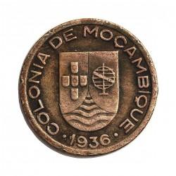Mozambique 50  Ctvo.  1936. CUNI. 4,5gr. Ø22mm. MBC/MBC+. MUY ESCASO/A. KM. 65