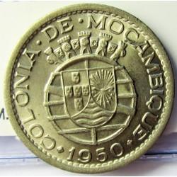 Mozambique 50  Ctvo.  1950. CUNI. 4,5gr. Ø22mm. SC. (Tono original). MUY ESCASO/A. asi. KM. 76