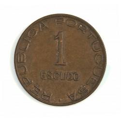 Mozambique 1  Escudos. 1945. AE. 8gr. Ø26mm. EBC+. (Tono). MUY ESCASO/A. KM. 74