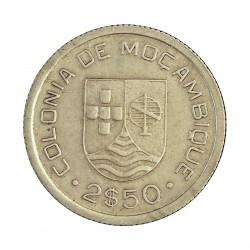 Mozambique 2,5  Escudos. 1935. AG. 3,5gr. Ley:0,650. Ø20mm. EBC-/EBC. KM. 61