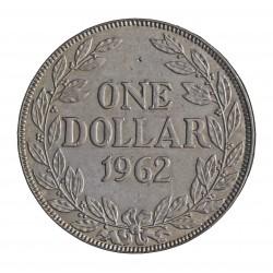Liberia 1 Dolar. 1962. AG. 20,74gr. Ley:0,900. Ø33mm. SC-/SC. KM. 18