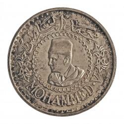 Marruecos 500 Francos. 1956. (AH.1376). AG. 22,5gr. Ley:0,900. Ø36mm. EBC-/EBC. KM. 54