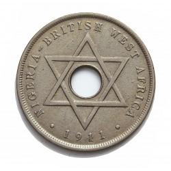 Africa Occid.-(Britanica) 1 Penny. 1911. Heaton. CUNI. 9,2gr. (BRIT.WEST AFRICA). Ø30,5mm. MBC+/EBC-. KM. 6