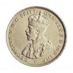 Africa Occid.-(Britanica) 2 Shilling. 1918. AG. 11,31gr. Ley:0,925. (BRIT.WEST AFRICA). Ø28mm. EBC-/EBC. KM. 13
