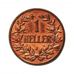 Africa Oriental-(Alemana) 1 Heller. 1910. J-(Hamburgo). CU. 3,86gr. (GERMAN EAST AFRICA). Ø20mm. SC-/SC. (Tono original). KM. 7