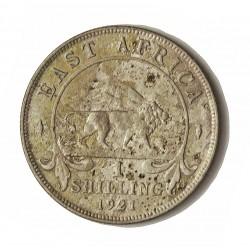Africa del Este-(Britanica) 1 Schilling. 1921. AG. 7,776gr. Ley:0,250. (EAST AFRICA). Ø27mm. MBC. KM. 21