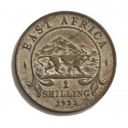 Africa del Este-(Britanica) 1 Schilling. 1922. AG. 7,776gr. Ley:0,250. (EAST AFRICA). Ø27mm. EBC-. KM. 21