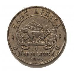 Africa del Este-(Britanica) 1 Schilling. 1945. SA-(Sudafrica). AG. 7,6gr. Ley:0,250. (EAST AFRICA). Ø27mm. EBC-/EBC. KM. 28.4