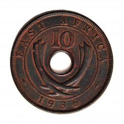 Africa del Este-(Britanica) 10 Cent. 1936. KN. AE. 11,4gr. (EAST AFRICA). Ø30,5mm. EBC-. KM. 24