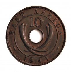 Africa del Este-(Britanica) 10 Cent. 1941. I-(Bombay). AE. 11,4gr. (EAST AFRICA). Ø30,5mm. SC-/SC. (Tono). KM. 26.1