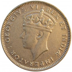 Africa del Este-(Britanica) 50 Cts. 1937. H-Heaton. AG. 3,888gr. Ley:0,250. (EAST AFRICA). Ø21mm. EBC/EBC+. KM. 27