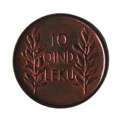 Albania 10 Qindar Leku. 1926. R-(Roma). AE. 4,5gr. (Cabeza de Aguila). Ø21mm. SC-/SC. (Nueva con casi todo su tono original). M