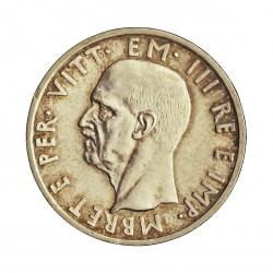 Albania 5 Lek. 1939. R-(Roma). AG. 5gr. Ley:0,835. (Ocupacion Italiana WWII). Ø23mm. SC/SC-. RARO/A. en esta conservacion. KM.