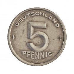 Alemania Democratica 5 Pfening. 1949. A-(Berlin). AL. 1,1gr. Ø19mm. MBC-. KM. 2