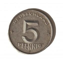 Alemania Democratica 5 Pfening. 1950. A-(Berlin). AL. 1,09gr. Ø19mm. MBC+. KM. 2