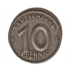 Alemania Democratica 10 Pfening. 1948. A-(Berlin). AL. 1,5gr. Ø21mm. MBC-. KM. 3