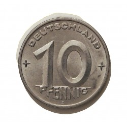 Alemania Democratica 10 Pfening. 1949. A-(Berlin). AL. 1,5gr. Ø21mm. MBC. KM. 3