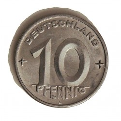 Alemania Democratica 10 Pfening. 1950. A-(Berlin). AL. 1,5gr. Ø21mm. EBC/EBC+. (Insig.gpcto.). KM. 3