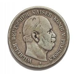 Alemania Estados 2 Marcos. 1876. (A)-Prusia. AG. 11,111gr. Ley:0,900. Ø28mm. MBC-/MBC. KM. 506