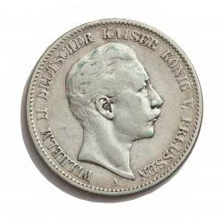 Alemania Estados 2 Marcos. 1899. Prusia-(A). AG. 11,111gr. Ley:0,900. Ø28mm. MBC. KM. 522