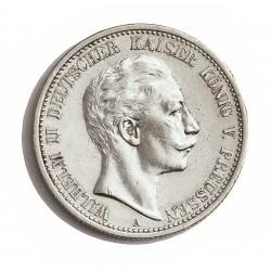 Alemania Estados 2 Marcos. 1907. Prusia-(A). AG. 11,111gr. Ley:0,900. Ø28mm. EBC/EBC+. (Pqñas.marquitas e insig.gpcito.cto.). K