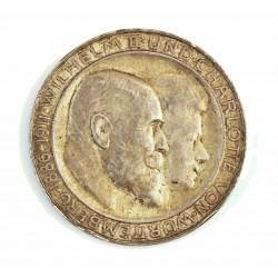 Alemania Estados 3 Marcos. 1911. (F)-Wurttemberg. AG. 16,667gr. Ley:0,900. (Guillermo y Charlotte). Ø33mm. EBC/EBC+. (Gpcto.cto
