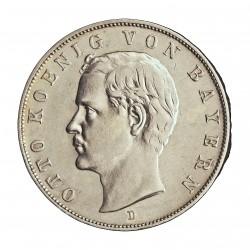 Alemania Estados 3 Marcos. 1912. D-(Munich). AG. 16,667gr. Ley:0,900. (BAVARIA). Ø33mm. EBC/EBC+. KM. 996