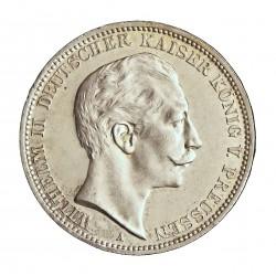 Alemania Estados 3 Marcos. 1913. A-(Berlin). PRUSIA. AG. 16,667gr. Ley:0,900. Ø33mm. SC/SC-. KM. 527
