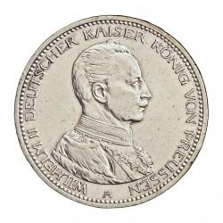 Alemania Estados 5 Marcos. 1914. Prusia-(A). AG. 27,777gr. Ley:0,900. Ø38mm. EBC/EBC+. (Gpcito.cto.). KM. 536