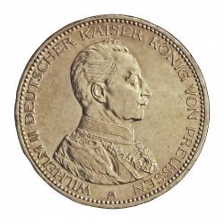 Alemania Estados 5 Marcos. 1914. Prusia-(A). AG. 27,777gr. Ley:0,900. Ø38mm. EBC/EBC+. KM. 536