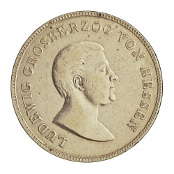 Alemania Estados Kronenthaler. 1825. Hesse-Darmstadt. HR. AG. 29,51gr. Ley:0,871. Ø38mm. MBC+. RARO/A. KM. 292