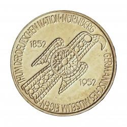 Alemania Federal-(1948/..) 5 Marcos. 1952. D-(Munich). AG. 11,2gr. Ley:0,625. (Cº Numberg Museum) . Ø29mm. EBC-. (Marquitas cam