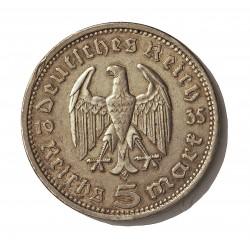 Alemania III Reich-(1933/45) 5 Reichmark. 1935. A-(Berlin). AG. 13,88gr. Ley:0,900. Ø29mm. MBC+. KM. 86