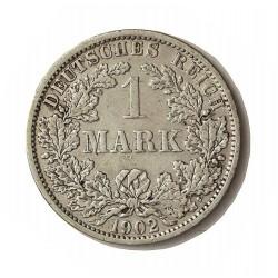 Alemania Imperio-(1871/1918) 1 Marcos. 1902. A-(Berlin). AG. 5,55gr. Ley:0,900. Ø24mm. MBC-/MBC+. KM. 14