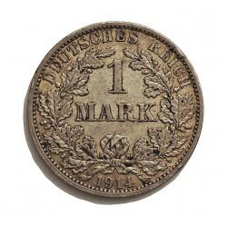 Alemania Imperio-(1871/1918) 1 Marcos. 1914. A-(Berlin). AG. 5,55gr. Ley:0,900. Ø24mm. EBC-/EBC. (Insig.gpcto.). KM. 14