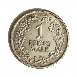 Alemania Weimar-(1919/33) 1 Reichmark. 1925. F-(Stuttgart). AG. 5gr. Ley:0,500. Ø23mm. EBC-. KM. 44