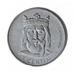 Andorra 1  Cts.  2002. AL. 2,1gr. (Carlomagno). Ø27mm. SC. KM. 176