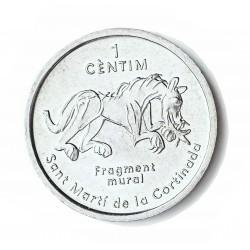 Andorra 1  Cts.  2003. AL. 2,1gr. (12º Cº de S.Marti d.l. Cortinada-). Ø27mm. SC. KM. 198